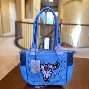 Montana west conceal carry tote bag blue